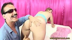 Reggie Burnett gets her gorgeous pussy fingered by a lucky fan