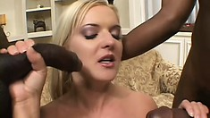 Thick blonde bitches like her love to get railed by black dicks