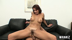 Busty cougar with a lovely ass Vanessa needs to have a stiff cock exploring her cunt