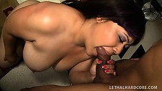 Twilight Starr is a chubby brunette woman with a juicy peach craving for black cock