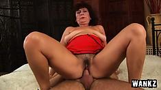 Big-tittied slut Alma likes taking loads of cum from good guy Ryan