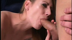 Blonde gets a taste of her first big cocks in an interracial threesome