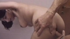 Nubile beauty moans in ecstasy as her furry pussy gets pleasured